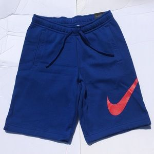 Royal Red Nike Swoosh Mens Cotton Shorts